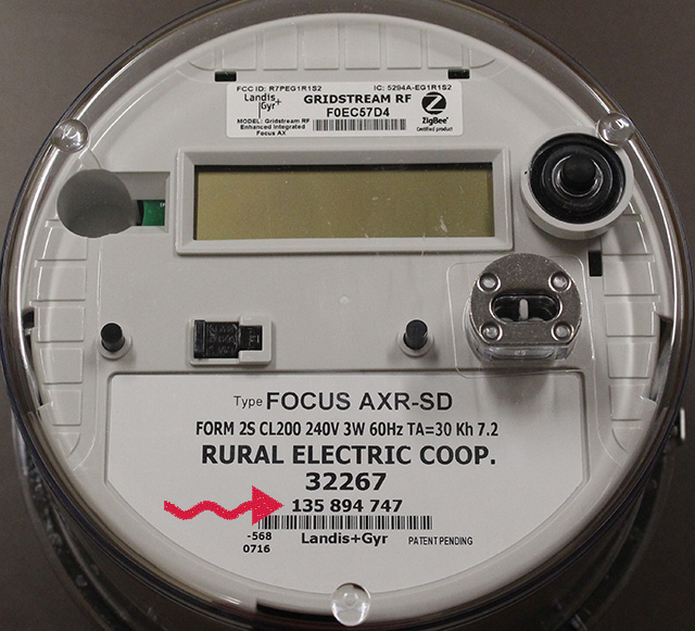 Electric Meter Number : Finding your meter number rural electric cooperative